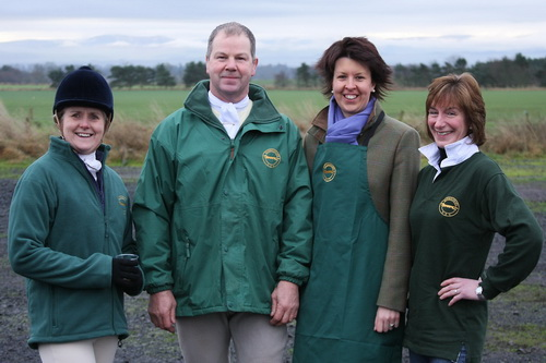 Berwickshire Hunt Supporters Club shirt, jackets and apron
